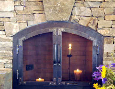 Fireplace doors